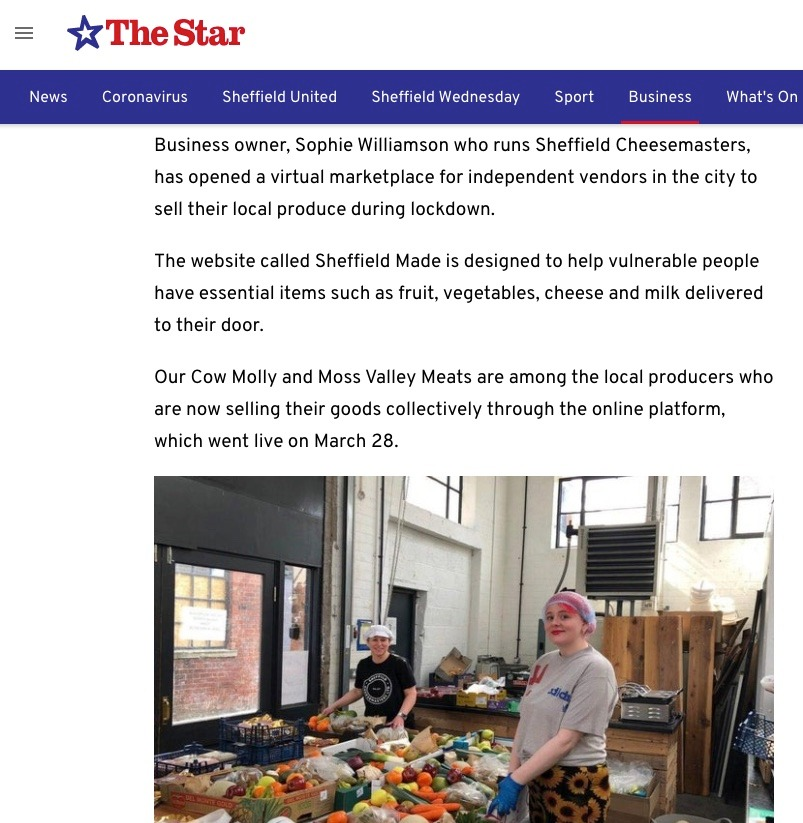 Sheffield Made is in The Star article